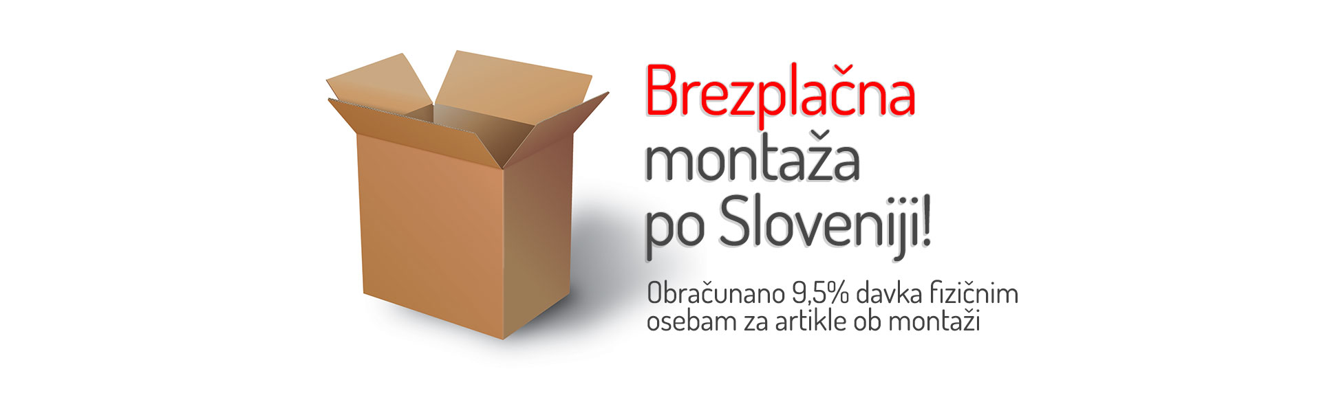 brezplačna montaža po Sloveniji